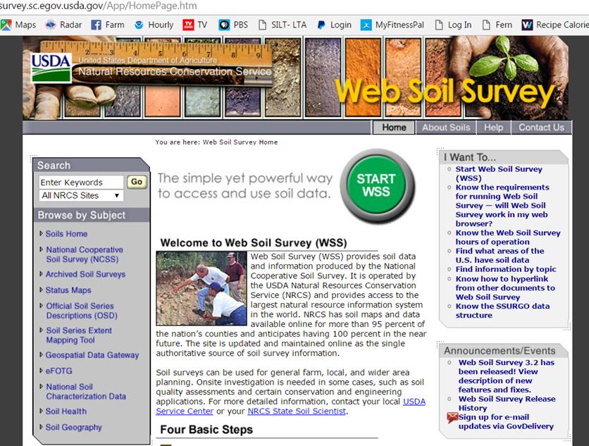 Web Soil Survey Home Page